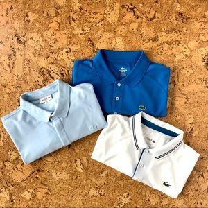 Set of Three (3) Lacoste Polo Shirts, XXXL / 8